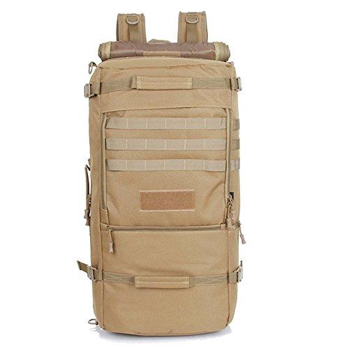 Max & Mix unisex 50L borsa Tracolla zaino da viaggio zaino per escursionismo borsa zaino mimetico impermeabile sport outdoor