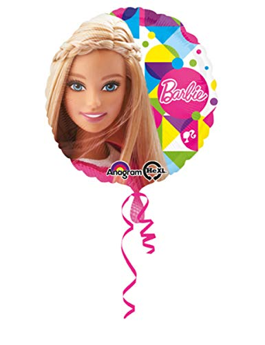 amscan 3065301 Barbie Sparkle Folie Ballons (Box Barbie Halloween)