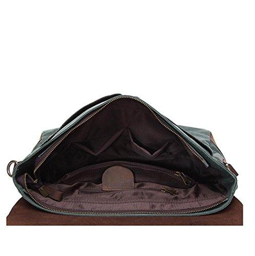 LF&F Retro Mens Segeltuch Leder Messenger Schulter Reise Wandern Camping Tasche Casual Sling Schulter Pack Daypack Satchel Bag FüR Arbeit Schule TäGliche Verwendung C