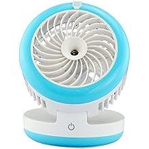 doxungo portátil 4modo batería USB aire acondicionado ventilador de escritorio portátil personal Spray de agua de refrigeración ventilador humidificador, Misting Ventilador de mano para Al aire libre oficina casa al aire libre oficina uso