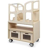 Preisvergleich für Puppenhaus Emiliy aus Holz mit viel Zubehör