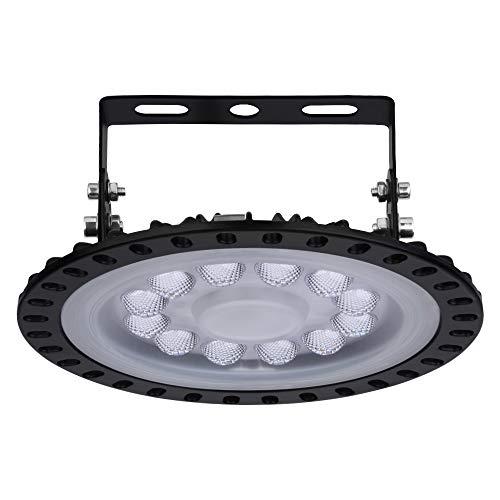 UFO LED Industrielampe, LED Hallenleuchte Industrial Kronleuchter Hallenstrahler Hallenbeleuchtung Werkstattbeleuchtung, Kaltweiß 6000-6500K, Abstrahlwinkel 120° (50W)