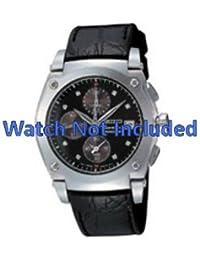 Correa de reloj de Seiko 7t92 0GZ0/SND861P1 zwart (no incluidos en el precio del reloj. Correa de reloj sólo original)