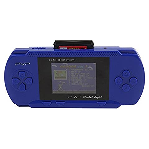 TuoFang® LCD 8 Bit PVP Station Light 3000 Handheld Game Consoles Game Players Toys Gifts (Blue)