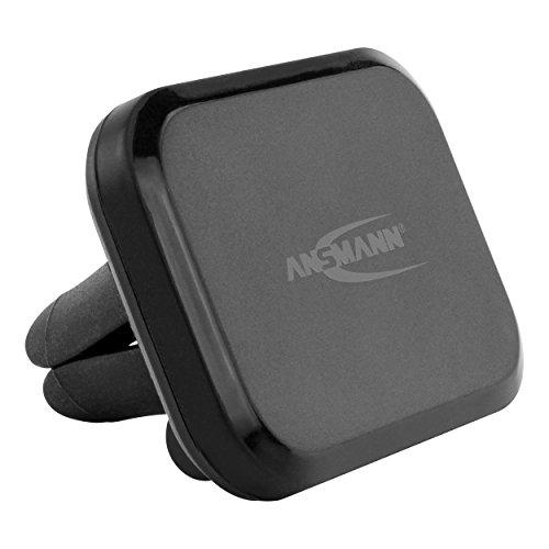 ANSMANN magnetische Handyhalterung fürs Auto | Befestigung an Kfz Lüftungsgitter | geeignet für Smartphone, Navi, GPS bis 500g Gewicht | - Iphone-halterung Magnetisches