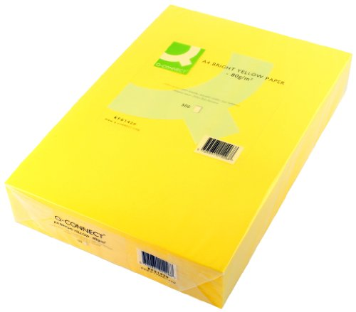 q-connect-a4-80gsm-bright-yellow-ream-coloured-copier-paper