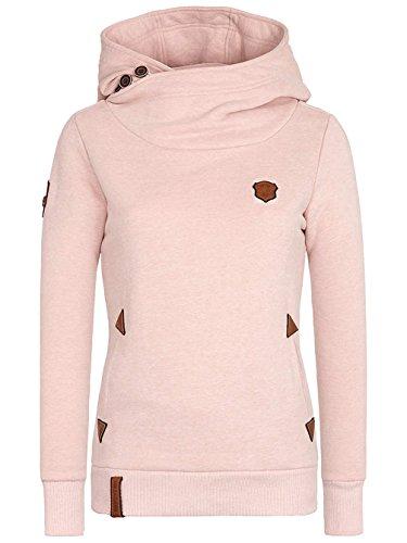 Naketano Female Hoody Schickobello IV dusty pink melange