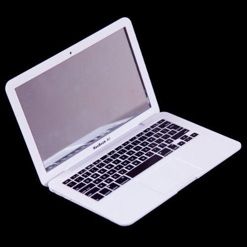 Mini faux Apple iPad / MacBook Air Notebook Tablet Beauty Make-up kosmetische Taschen Gesicht Compact Mirror von KingOfHearts-weiß CJ09-A