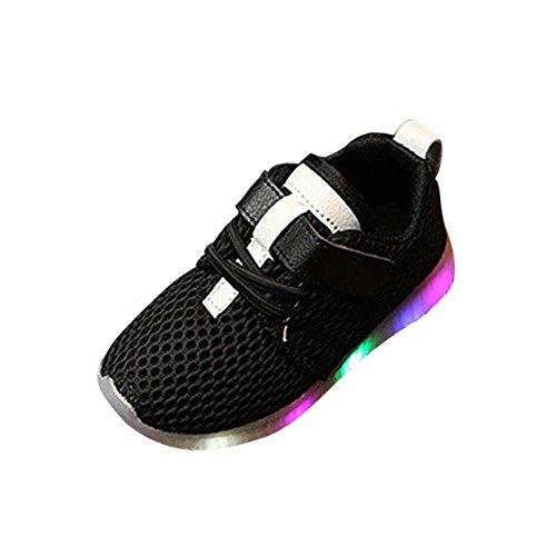 Binggong Chaussures Bébé Chaussures Bébé Doux Lumineux extérieur Sport Sandales, Enfant en Bas âge a Conduit des Chaussures légères garçons Doux Lumineux extérieur Sport Sandales