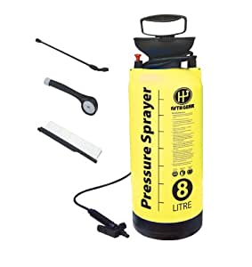 4 In 1 Portable Pump Action 8 Litre Pressure Washer Car, Caravan & Motorhome Cleaner