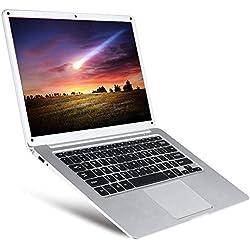 Ordinateur Portable Intel Atom X5 Z8350 Ultra-Mince et léger, 14,1 Pouces, Quad Core 64 Bits, 1,44 GHz, 4 Go de RAM + 64 Go de mémoire ROM WiFi Bluetooth Business Note Book Netbook étudiant (Argent)