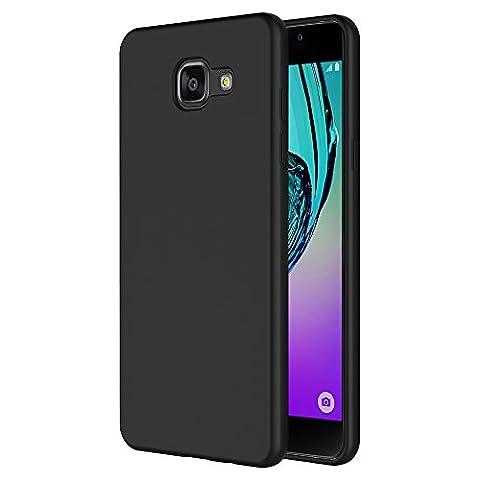 Samsung Galaxy A5 2016 Hülle, AICEK Schwarz Silikon Schutzhülle für Samsung Galaxy A5 2016 Case TPU Bumper Samsung Galaxy A5 2016 Handyhülle (5.2