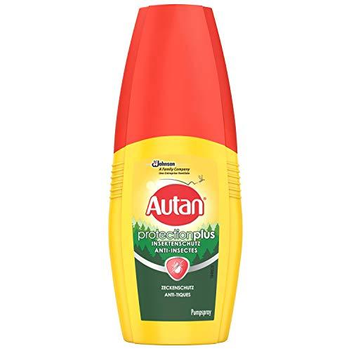 Autan Protection Plus Zeckenschutz Insektenschutz Pumpspray für Körper und Gesicht, zum Schutz vor Zecken und heimischen Mücken, 1er Pack (1 x 100 ml) -