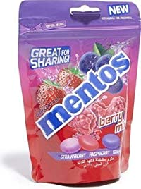 Mentos Chewy Dragees Berry Mix Refill Bag