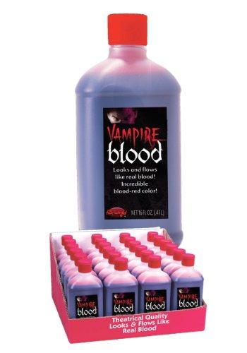 Wicked vampire blood, sangue finto per costumi di halloween e trucco teatrale, flacone da 0,47 litri