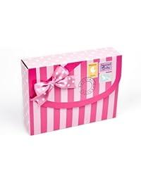 De color rosa bebé plegada con diseño de la entrega de fecha y Pelele para bebé