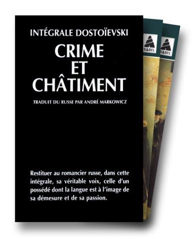 INTEGRALE DOSTOIEVSKI COFFRET 2 VOLUMES : VOLUME 1, CRIME ET CHATIMENT. Tome 1. VOLUME 2, CRIME ET CHATIMENT. Tome 2