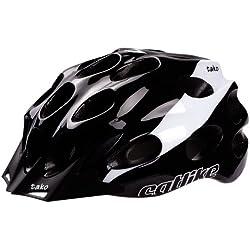 Catlike Tako - Casco de ciclismo, color negro/blanco brillo, talla LG (58-62 cm)