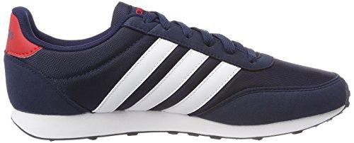 adidas V Racer 2.0, Scarpe da Ginnastica Basse Uomo Blu (Collegiate Navy/footwear White/scarlet)