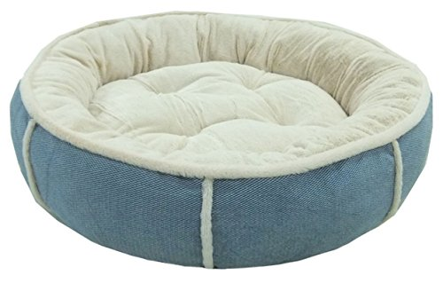 Round Soft Dog Bed Cushioned with Fleece Lining