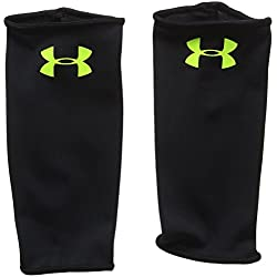 Under Armour Shinguard Sleeves Calcetines de compresión, Hombre, Negro (Black), SM