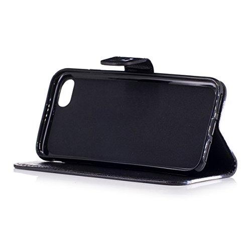 iPhone 7 Custodia, SainCat Custodia in Pelle Cover per iPhone 7, Anti-Scratch Protettiva Caso Elegante Creativa Dipinto Pattern Design PU Leather Flip Portafoglio Custodia Libro Protettiva Custodia a  cane corgi