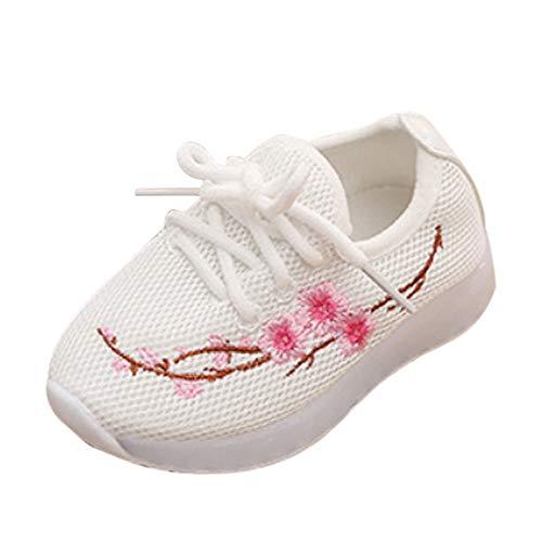 Baby Shoes Abstand Unisex-Kinder LED Sneakers Mode Blinkschuhe Low-Top Casual Outdoor Sneakers Laufschuhe Sportschuhe Hallenschuhe für Jungen und Mädchen Größe 21-30 -