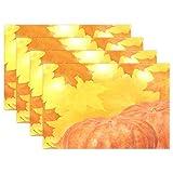 Wamika Ahorn-Tischset, Platzdeckchen, Herbst-Ahornblätter, Rutschfest, fleckenabweisend, 30,5 x 45,7 x 2,5 cm, 1 Stück 12x18x6 in Mehrfarbig