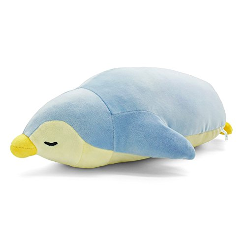 YINGGG Penguin Soft Plush Pillow Animal Stuffed Toy Gift 63cm, Blue