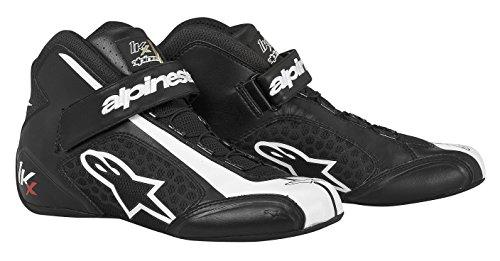 Alpinestars 2712113-12 Zapatos de Kart, Color Negro/Blanco, Talla 6