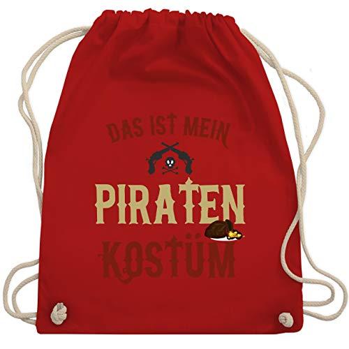 Kostüm Klassische Pirat - Karneval & Fasching - Das ist mein Piraten Kostüm - Unisize - Rot - WM110 - Turnbeutel & Gym Bag
