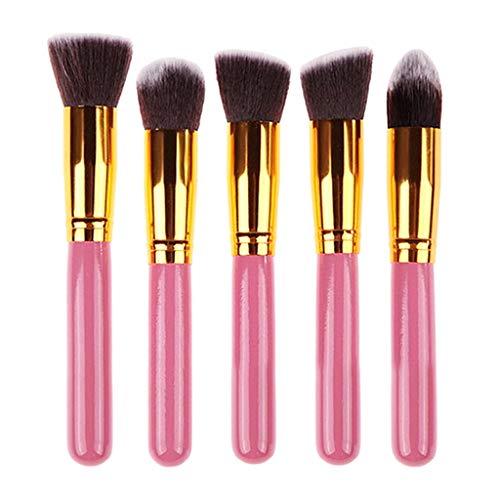 Sunhoyu Foundation Lot de 5 pinceaux de maquillage professionnels de maquillage pour fard à paupières