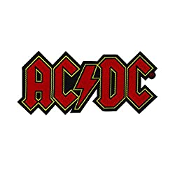 XLG AC/DC Name Logo Embroidered Iron On Rock and Roll Patch