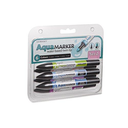 letraset-paquete-de-6-rotuladores-doble-punta-tinta-a-base-de-agua-colores-variados