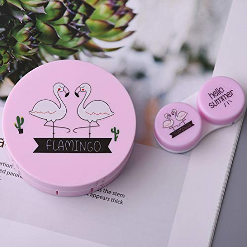 Hochwertige Vogel Muster neue Kontaktlinsen Box Beauty Box unsichtbare Mate Box Pflege Box Runde tragbare Box