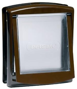 PetSafe - Petite Porte pour Animaux d'Origine Staywell (S), Chatière pour Petit Chien ou Chat, Résistante, Battant Robuste, Panneau de Fermeture Inclus - Brun