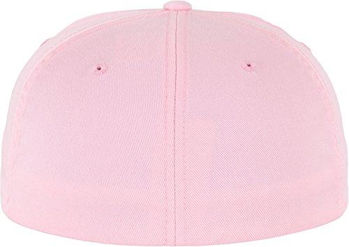 Flexfit Wooly Combed - 6 Panel Unisex Baseball Cap in 28 Farben, für Erwachsene und Kinder Pink