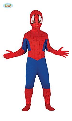 NDERKOSTÜM - SPIDER HERO - Größe 127-132 cm (7-9 Jahre), Verfilmung Spinnen Held Fantasie Comic Figur Film (Comic-figur Für Halloween-kostüm)