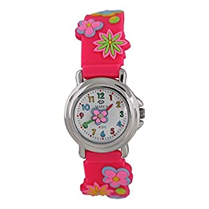 Marea Relojes de niñas con flores Diseños pulsera de silicona b37008/3 marca Marea