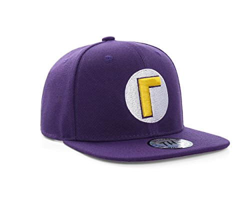 c895cb268 Super Mario Bros Waluigi Purple Snapback Baseball Cap