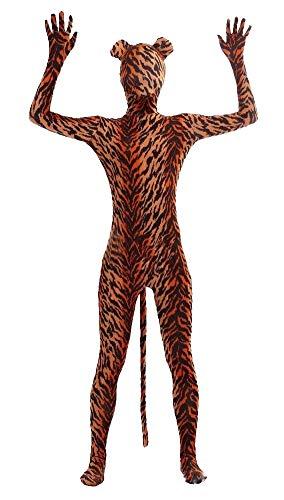 Volle Kostüm Spandex Ganzkörperanzug - Icegrey Zentai Spandex Ganzkörperanzug Anzug Lycra Bodysuits Kostüm Tiger-Erwachsener M
