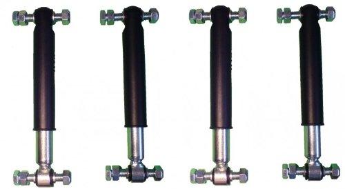 4 Stück Knott Achsstoßdämpfer 600 bis 1800 kg -Knott Nr. 990001 + Schraubensatz Test