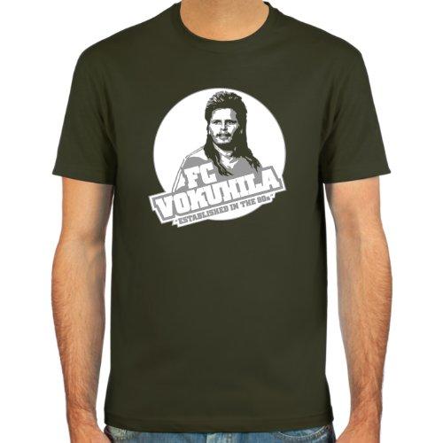 SpielRaum T-Shirt Mike Werner, FC Vokuhila ::: Farbauswahl: deepred, schwarz, oliv oder navy ::: Größen: S-XXL ::: Fußball-Kult