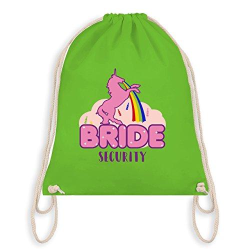 JGA Junggesellinnenabschied - JGA Bride Security Einhorn - Turnbeutel I Gym Bag Hellgrün