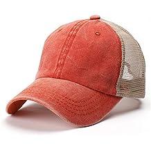 c395793a007e4 Gorra de béisbol Ajustable para Hombre Algodón Lavado para Mujer para  Hombre Sombrero Viejo Sombrero Camionero