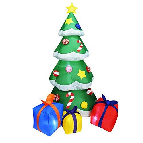 circulor Weihnachtsmann Aufblasbar Garten, 2,1m Aufblasbare Weihnachtsdeko, Aufblasbarer Weihnachtsbaum, Aufblasbarer Weihnachtsbaum Der Weihnachtsgartendekoration Gelage
