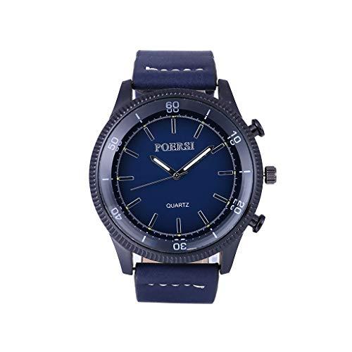 Nourich Herren Uhren Luxus Chronograph Wasserdichte Mesh Analog Quarz Uhr mit Blau Zifferblatt Business Mode Designer Kleid Sport Armbanduhren für ()