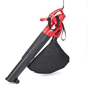 Trueshopping Electric Garden Vac Vacuum Mulcher Leaf Blower Shredder 2500w 40L Bag Single Speed 4m Cable