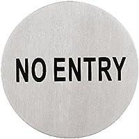 Placchetta Adesiva No Entry Inox