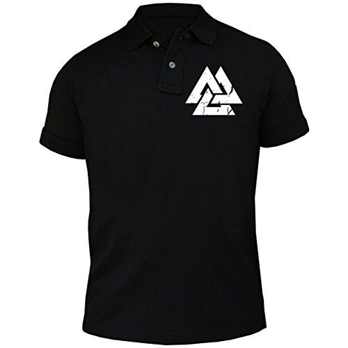 Männer und Herren POLO Shirt Berserker - Sons of Odin (mit Rückendruck) Schwarz